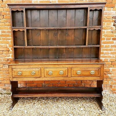 Late 18th Century English Antique Oak High Dresser, Possibly Somerset, C.1780