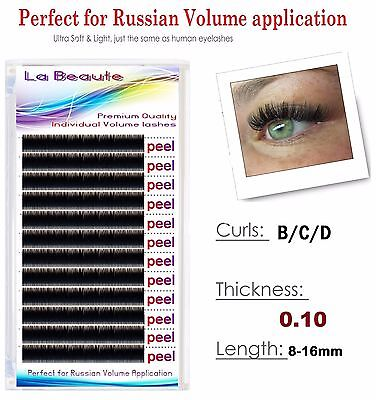 LaBeaute Russian XD Volume Lashes Individual Eyelash Extensions 0.10 B/C/D-curl
