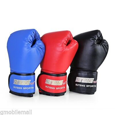1 Pair PU Boxing Kickboxing Training Fighting Sandbag Gloves for Fighter Sports