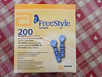 Sealed Box Of 200 Freestyle Lancets 2017/10