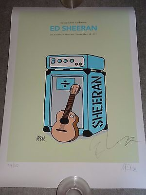 Ed Sheeran & Pete Mckee Limited Edition Of 50 A2 Signed Print Poster Sold Out