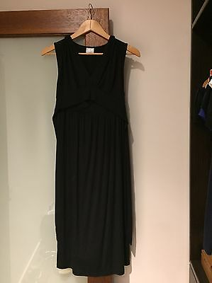 Black Wrap Around Maternity Dress