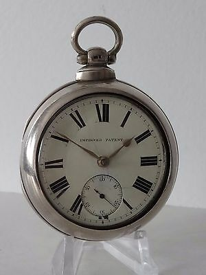 Solid Silver Pair Cased Pocket Watch Chester 1880 Stockdale Driffield Working