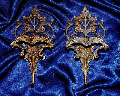 Two Beautiful Antique/ Vintage French Brass Coat Hooks .