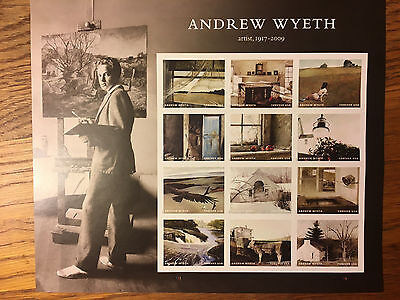 Andrew Wyeth U.S. Postage Stamps - 2017 - Full Sheet - MNH - Forever Stamps