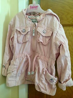 Next Baby Girl Pale Pink Hooded Summer Jacket 18-24 Months