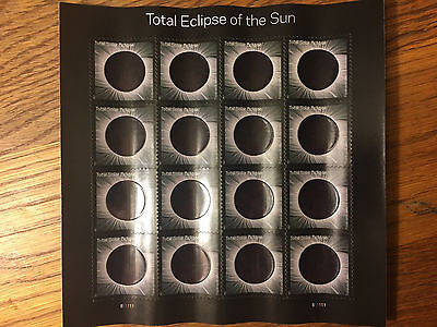 Total Eclipse of the Sun U.S. Postage Stamps - 2017 USPS - Full Sheet - MNH