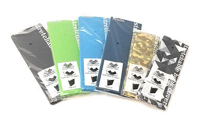 SIX PK Stretchable Book Covers Solid & Print-2 Standard Camo & 4 Jumbo Large Sox