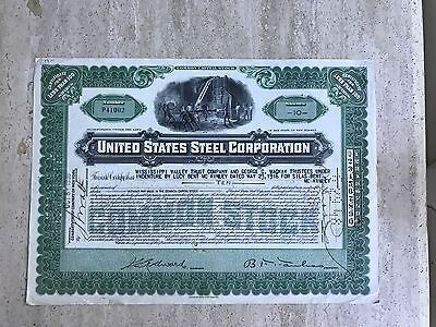 1916 United States Steel Corporation Stock Certificate