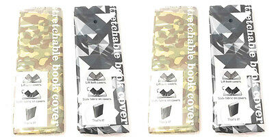 Camo Book Cover for School Textbooks 4 Pack, Standard Size, Stretchable Cloth