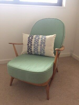 Blonde Wood Vintage Ercol Armchair - In Great Condition