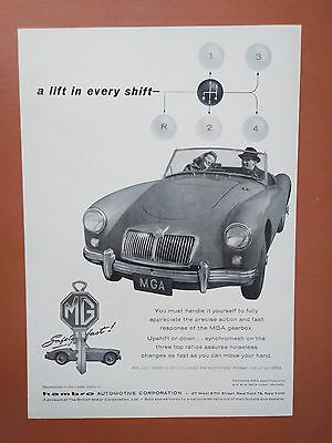 1958 MG Vintage Car Auto photo print ad