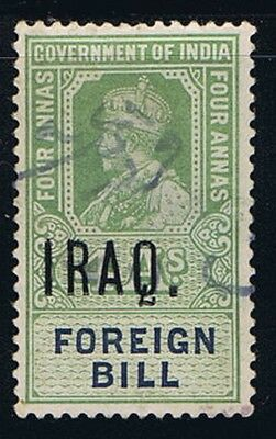 Iraq British India revenue stamp used in Iraq, used