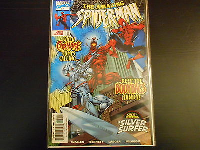 The Amazing Spider-Man #430 - Carnage!!! - Silver Surfer - Nice Copy - Marvel