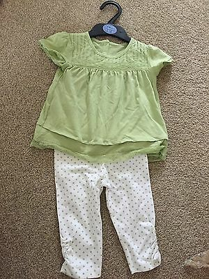 M&S girls age 6-9 mnths top&trsrs