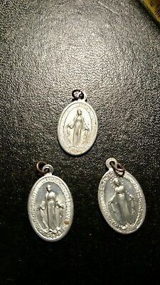 religious medals Mary. (lot of 3 )