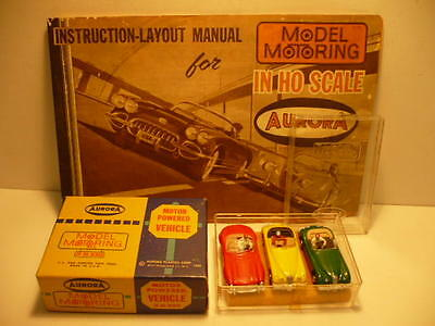 Aurora Jaguars #1541 Mercedes #1542 Triple Pack With Case And Box  Sale !!