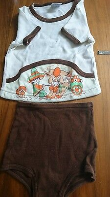 Vintage Baby Mothercare Pyjamas Summer Outfit Set