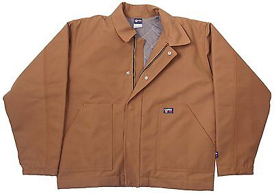 LAPCO JTFRBRDK-MED TL 12-Ounce Flame Resistant Duck Insulated Jacket, Brown