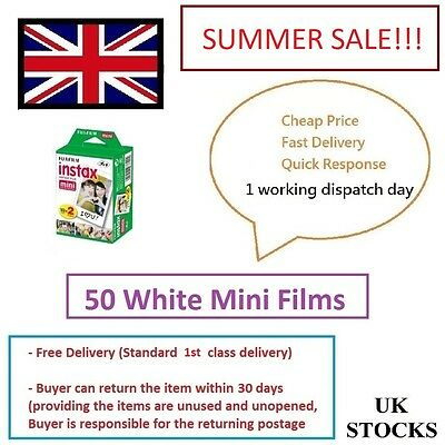 Fuji Fujifilm Instax Mini Film 50 White Film for Fujifilm Mini 7s/8/25/50/90/70