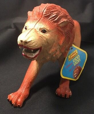 Vintage 1985 Imperial Toy Plastic Jungle Lion Animal Kingdom With Tags