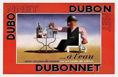 1935 Dubonnet Wine Cassandre French Advert Drink Brewery Bar Art Poster 319066