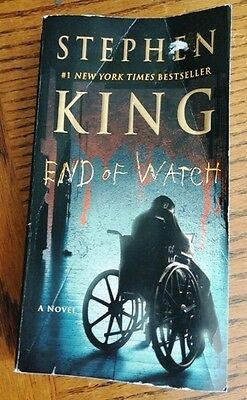 END OF WATCH (Bill Hodges Novel) by Stephen King ~ 1st Print PB