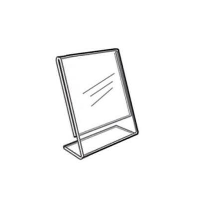 Acrylic Slanted Counter Sign Photo Display Holder Stand 2.5 x 3.5
