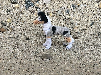 Handmade PipeCleaner Dog - Unique Design - One of a Kind -  Smooth collie merle