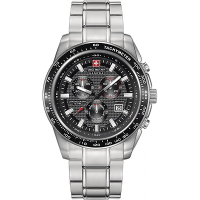 Swiss Military Men's Chronograph Watch | 06-5225.04.007 Crusader Stainless Steel