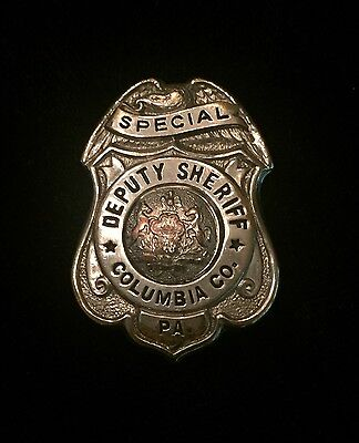 Vintage Small Size Columbia County Pennsylvania Special Deputy Sheriff Badge