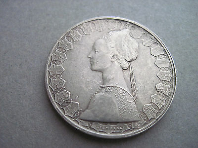 "1958 Republica Italiana L.500 ""R"" Coin"