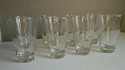 Lot of 8 Blakely Oil & Gas highball glasses Clear Cactus Etched Arizona vtg
