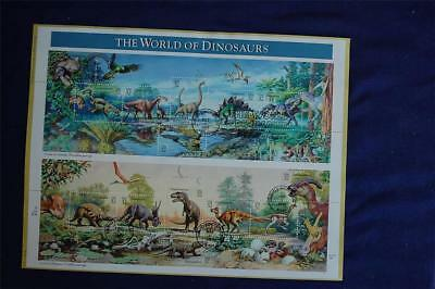The World of Dinosaurs 32c Stamps FD Souvenir Page Sc#3136a-o SP1236 Allosaurus