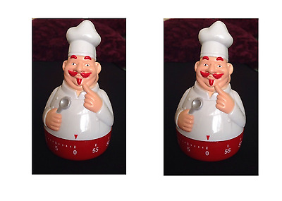 White Funky Chef Shape Apollo 1 hour Kitchen Timer