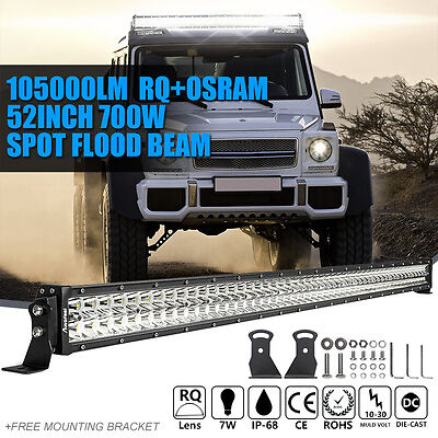 """OSRAM 52Inch 700W LED Light Bar Work Lamp Combo Spot Flood 50""""/54"""" For Jeep Ford"""