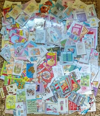 500 Wholesale Job Lot Mixed Greetings Cards Birthday Anniversary ect ect Joblot