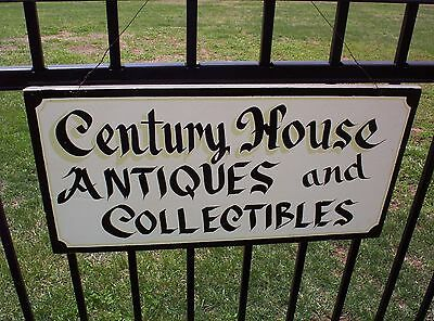 Vintage Wooden Advertising Sign Old Century House Antiques & Collectibles