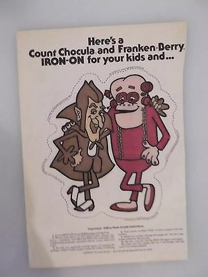 Vintage 1976 Count Chocula Franken Berry T-Shirt Iron On Awesome!