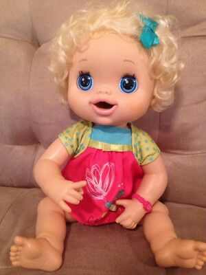 My Baby Alive Real Surprises? Doll Talks Eats Pees Poops Blonde
