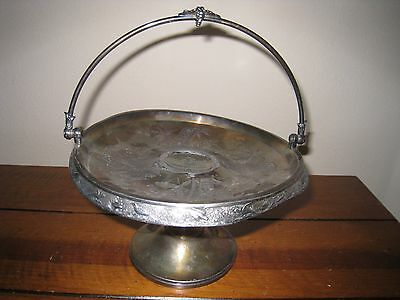 Antique Meriden B Company 1770 Silverplate Wedding Bridal Cake/Fruit Basket