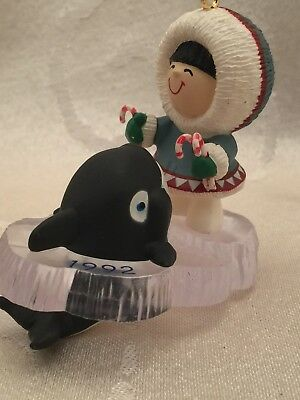 Hallmark Frosty Friends 1992 Whale Christmas Ornament 13th In Series
