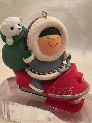 Hallmark Frosty Friends 1995 Snowmobile Christmas Ornament 16th In Series
