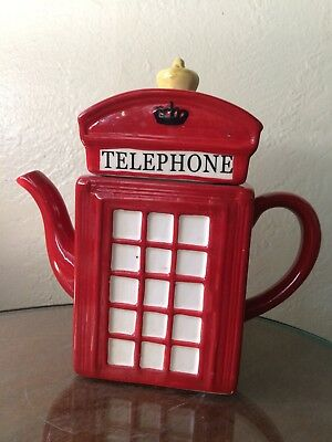 British Phone Booth Teapot