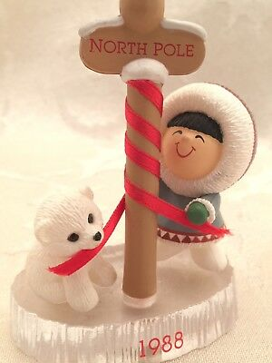 Hallmark Frosty Friends 1988 North Pole Christmas Ornament 9th In Series