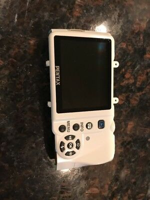 Pentax K-X Rear Back Cover WIth LCD and SD Door Replacement Repair Part White