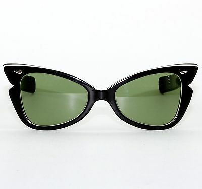 Vintage American Optical Winged Atomic Pinup Cat Sunglasses Rockabilly Excellent