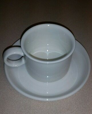 Set of 4 Stonehenge midwinter white coffee cups and saucers