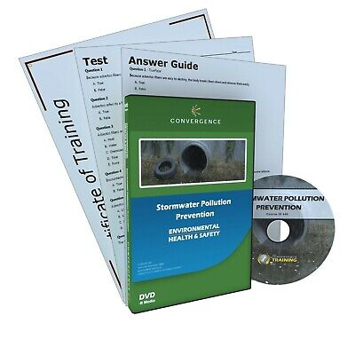 Brand New Convergence Training C-845 Stormwater Pollution Prevention DVD