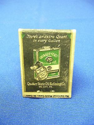 Vintage Quaker State Motor Oil Matchbook